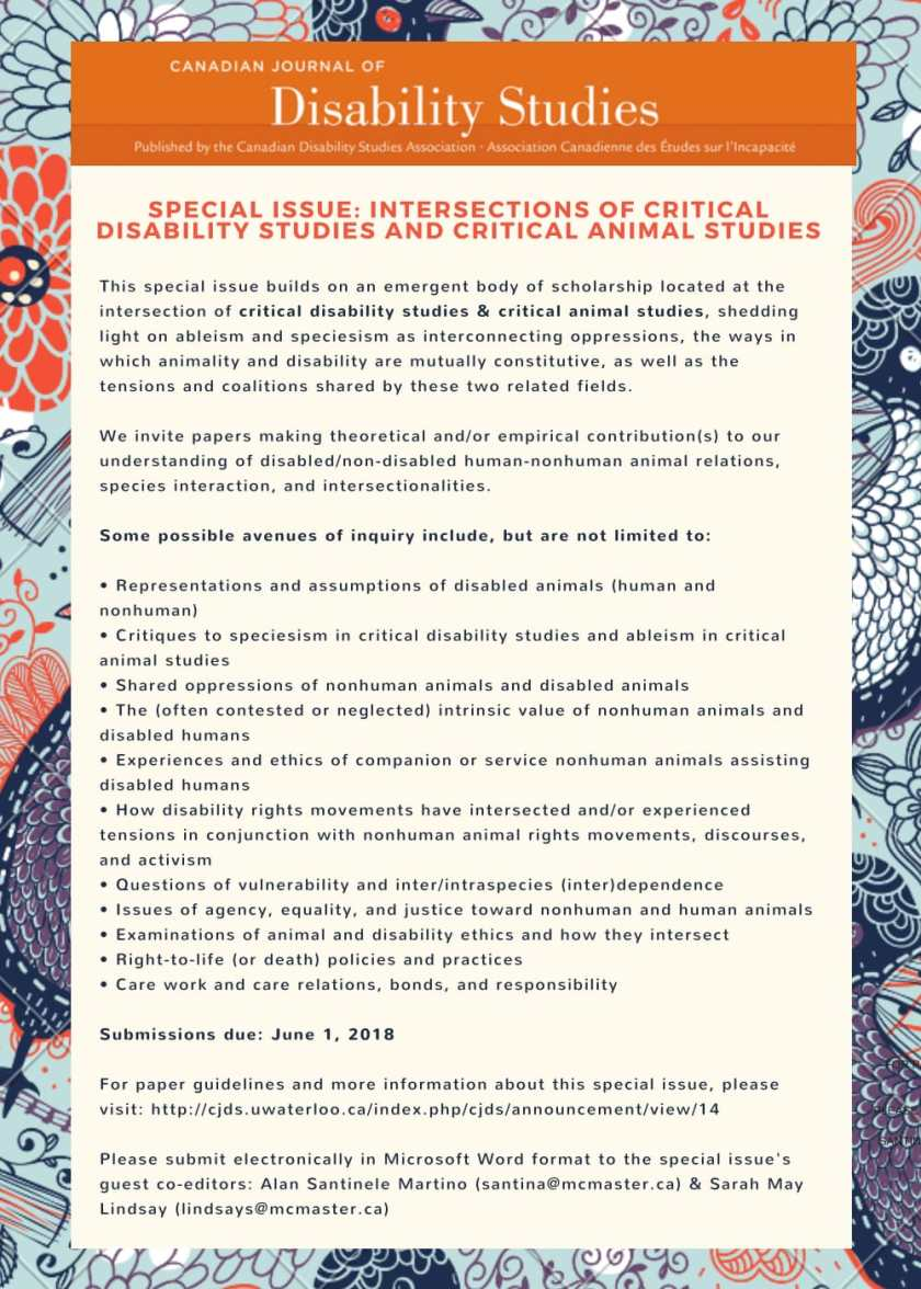 Intersections of critical disability studies and critical animal studies (1)-1